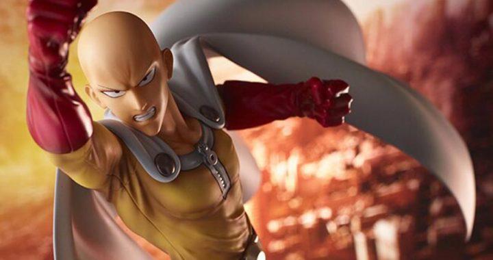 ฟิกเกอร์ Saitama ในท่าการชกอุกกาบาตยักษ์สุดเท่ จากอนิเมะ One Punch Man